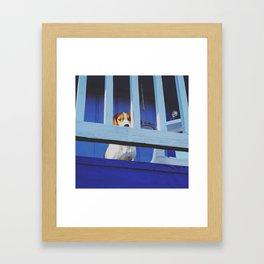 Blue Tom Framed Art Print