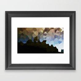 The polygon solitude  Framed Art Print