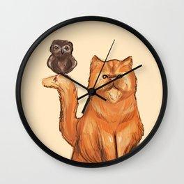 Crookshanks and Pigwidgeon Wall Clock