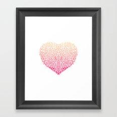 Pink Heart - Light White background Framed Art Print