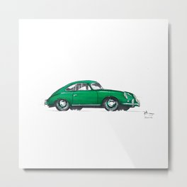 Porsche 356. Metal Print