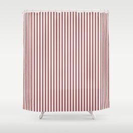Dusty Cedar Stripes Shower Curtain