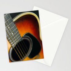 Guitar - Acoustic close up Stationery Cards