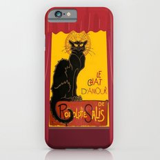 Le Chat D'Amour with Theatrical Curtain Border Slim Case iPhone 6s