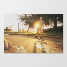 Summertime Skating  Canvas Print