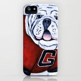 Georgia Bulldog Uga X College Mascot iPhone Case