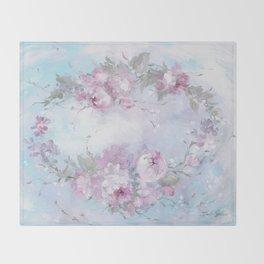 Crown Rose Throw Blanket