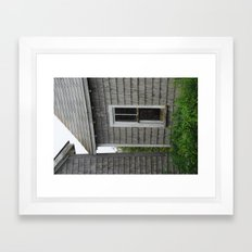 weathered window Framed Art Print