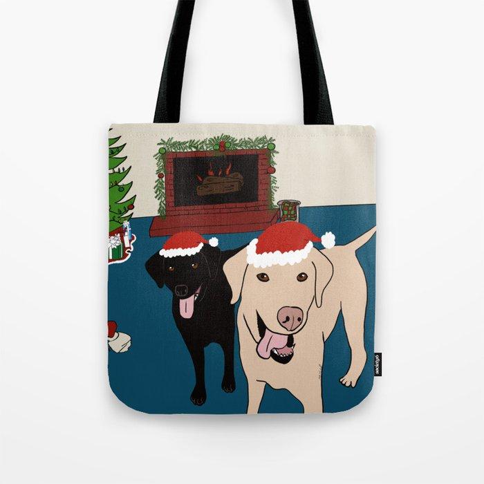 Labs Love Christmas! Tote Bag