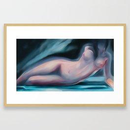 Reclining woman-Nude Framed Art Print