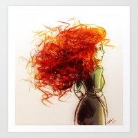 merida Art Prints featuring Merida by AndytheLemon