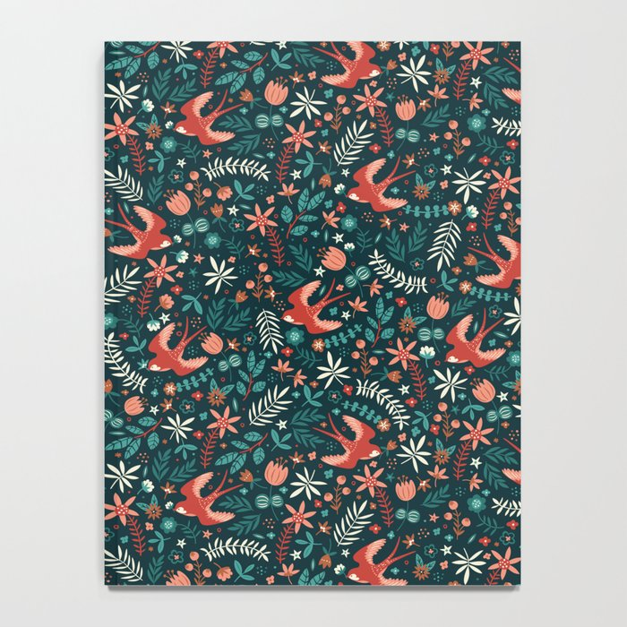 Flying Swallows Notebook