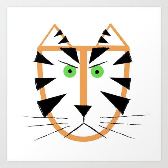 Tigr Art Print