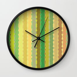 Multi-faceted decorative lines 9 Wall Clock