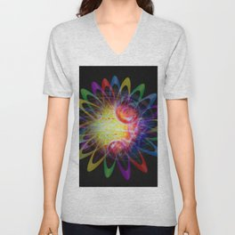 Abstract in Perfection - Magic of the rings 5 Unisex V-Neck