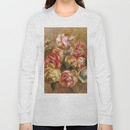 """Auguste Renoir """"Roses dans un vase de Sèvres"""" Long Sleeve T-shirt"""