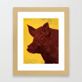 Invasive Species Series: Feral Hog Framed Art Print