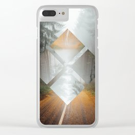 Forest Trails Clear iPhone Case