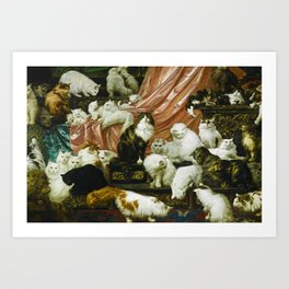 Classical Masterpiece 1893 - My Wife's Lovers by Carl Kahler Art Print