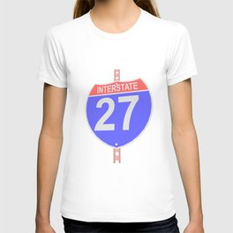 Interstate highway 27 road sign T-shirt