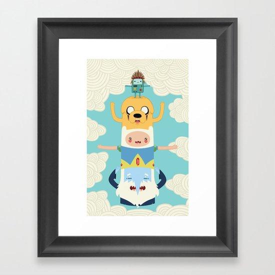 Adventure Totem Framed Art Print