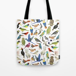 Endangered Birds Around the World Tote Bag