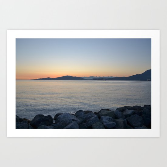 on a western shore Art Print
