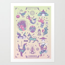 Cambodge - Kingdom of Wonder Art Print