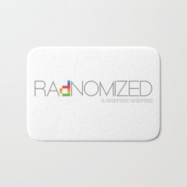 RAdNOMIZED Logo Bath Mat