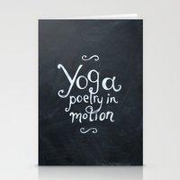 yoga Stationery Cards featuring YOGA! by Jon Cain