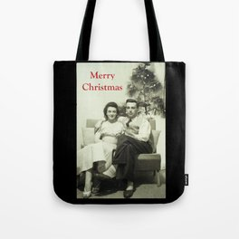 Merry Christmas from us to you, from past to present Tote Bag