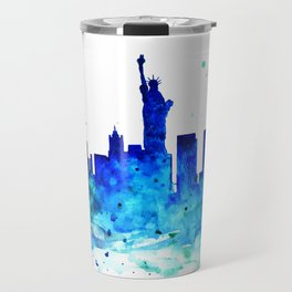 New York, watercolor Travel Mug