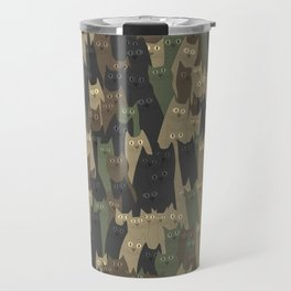 Camouflage cats Travel Mug