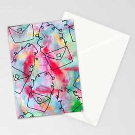 Grab Your Bag and Fly and See the World by Lenna Stationery Cards