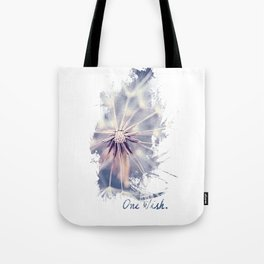 Dandelion Blue Graphic - Vertical Tote Bag