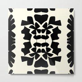 cutout shapes-black Metal Print
