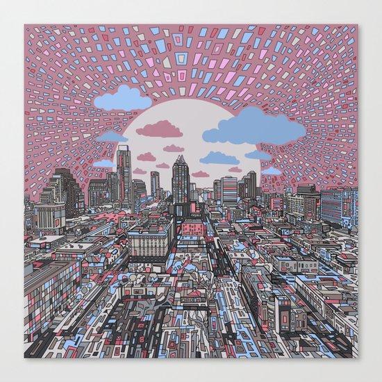 austin texas city skyline Canvas Print