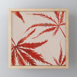 Large Japanese Maple Leaves Framed Mini Art Print