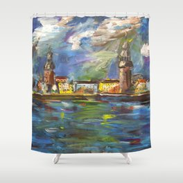 Stormy, Stormy Night ... In Rīga, Latvia Shower Curtain
