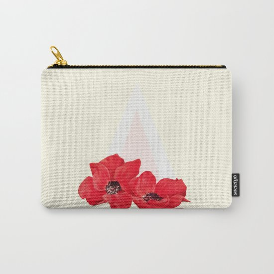 Floral Triangle Carry-All Pouch