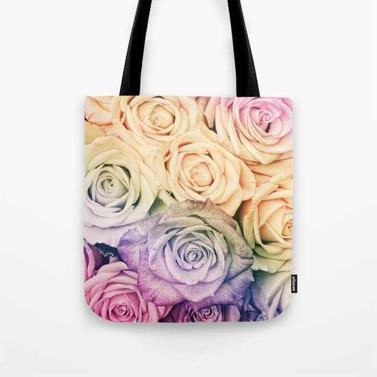 Some people grumble- Colorful Roses- Rose pattern Tote Bag