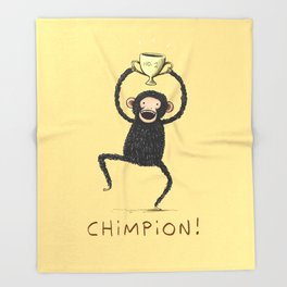 Chimpion Throw Blanket