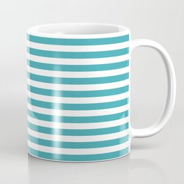 Striped Turquoise Coffee Mug