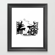 Rokoko Style Framed Art Print