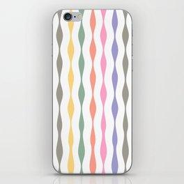 pastel streamers iPhone Skin