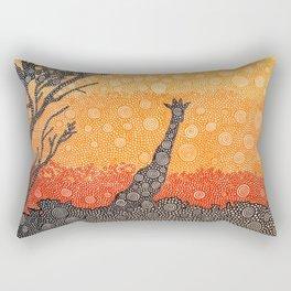 Giraffe In The Bush Rectangular Pillow