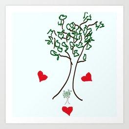 Trine Hearts Art Print