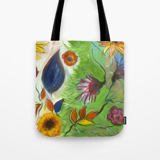 Flower Swirls Tote Bag