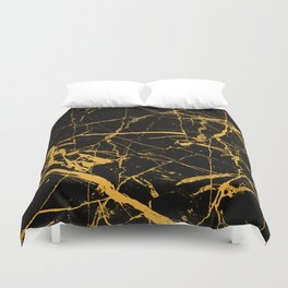 Orange Marble - Abstract, textured, marble pattern Duvet Cover