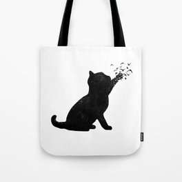 Poetic cat Tote Bag